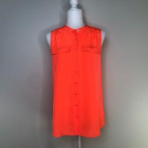 NWT J Crew Neon Orange Top